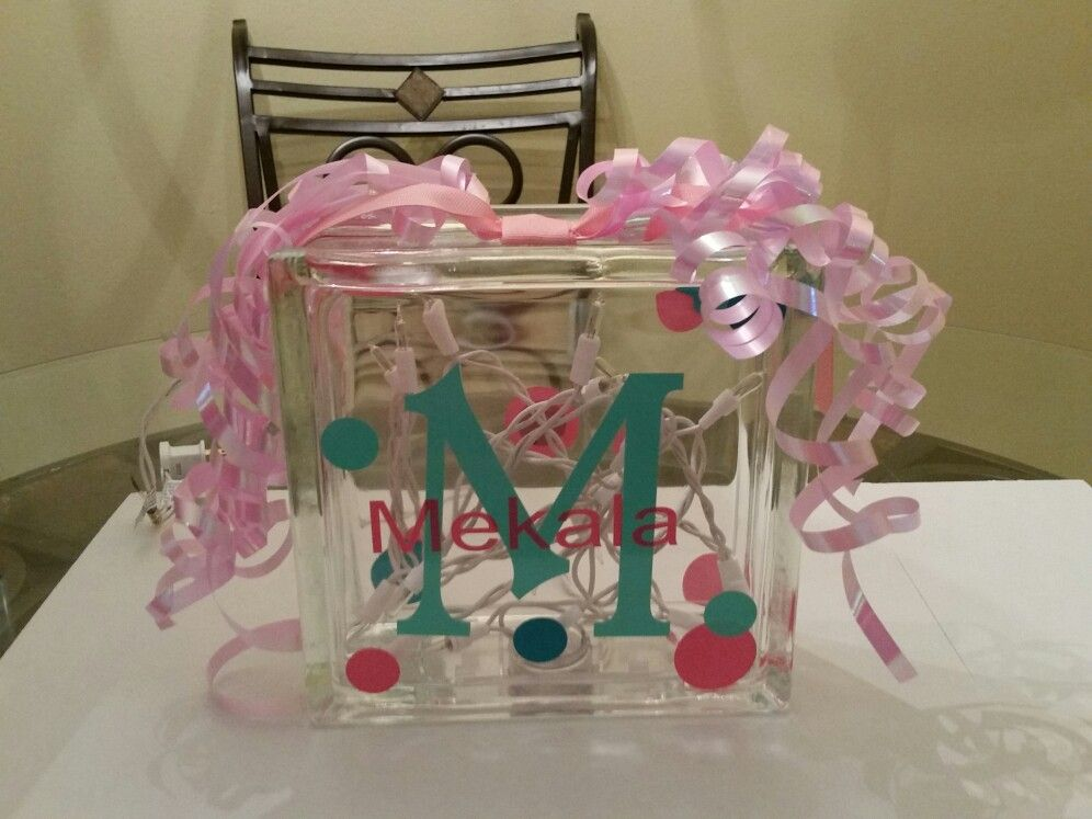 Personalized glass lamp!