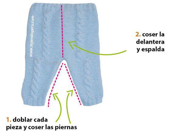 Pantal n y cobija con trenzas para beb s tejido en dos - Tejidos en dos agujas paso a paso ...