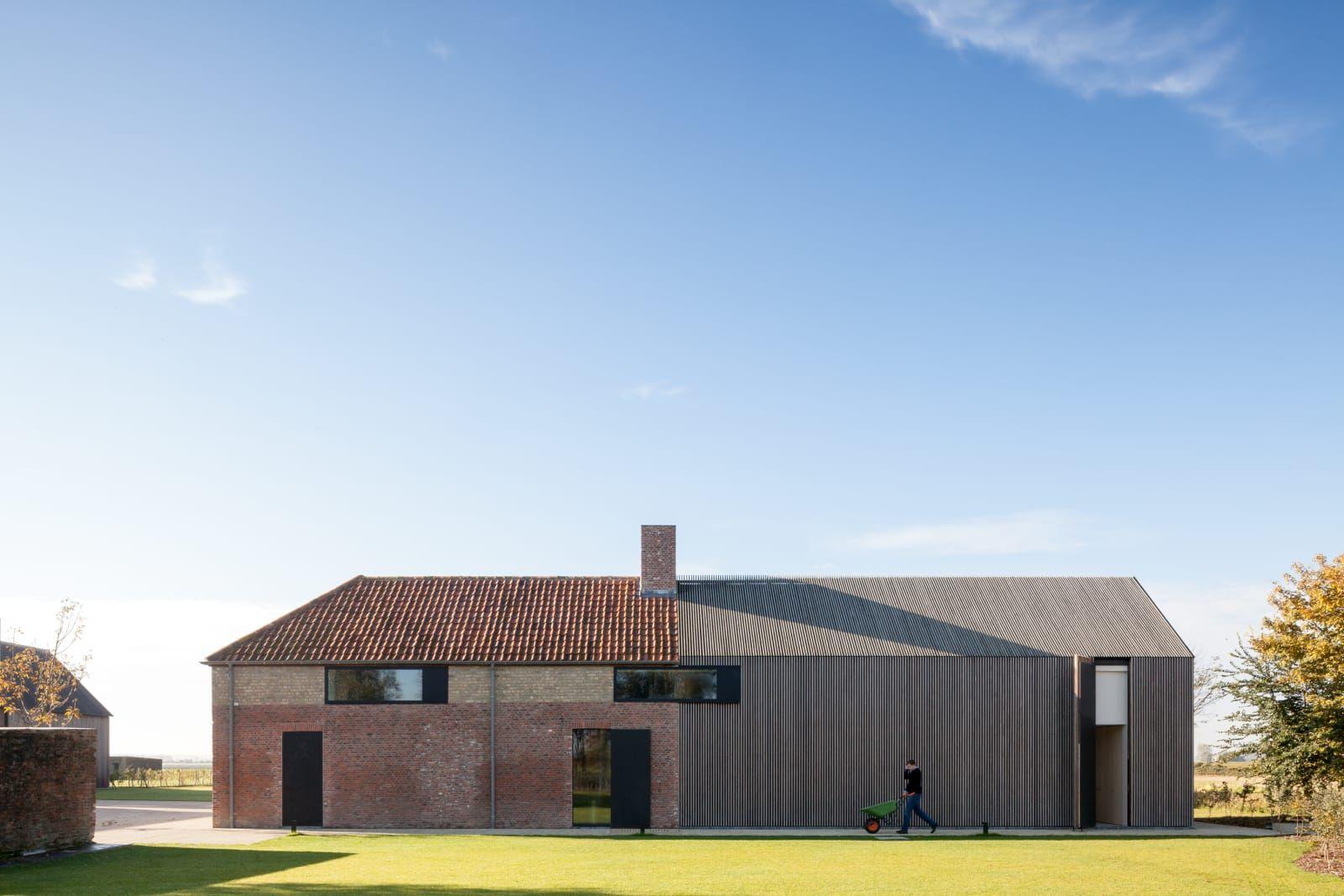 Govaert & Vanhoutte, Tim Van de Velde · Residence DBB | 1:100 | Remodeling House | Countryside | Flat Land | Open Space | gabled House |