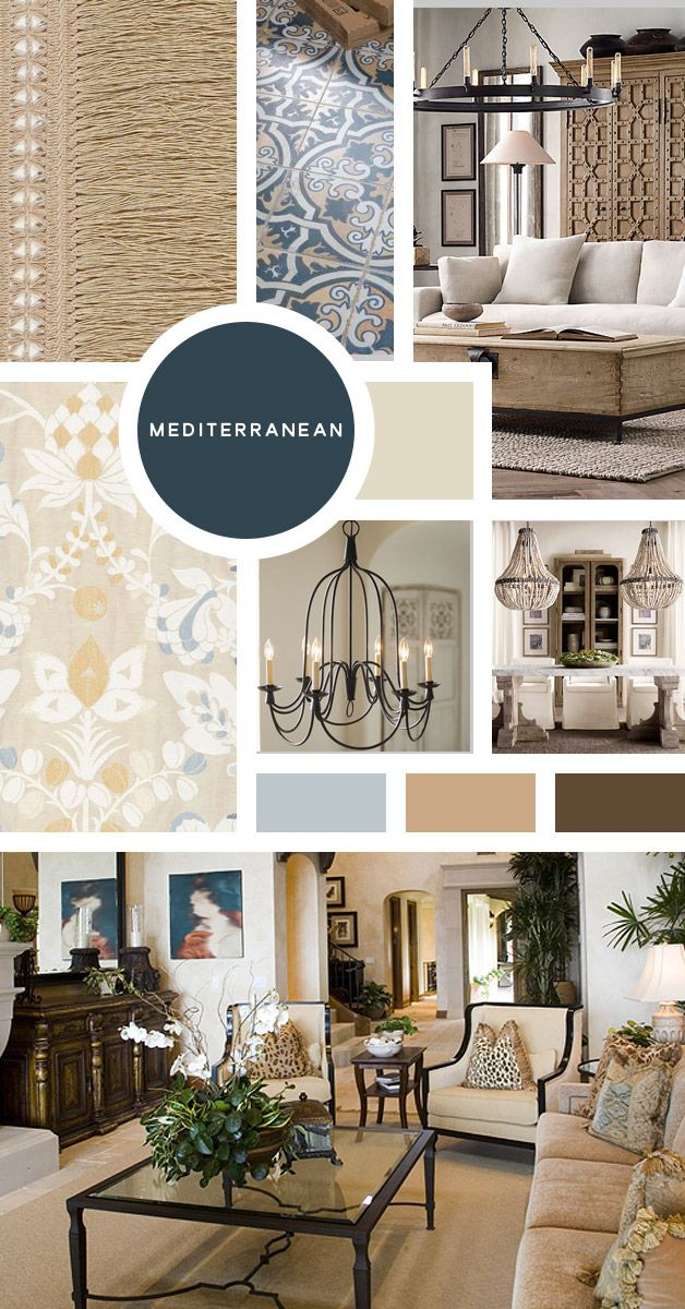Your Ultimate Guide To Interior Design Styles: Mediterranean  Yes, Yes,  There Are Tons Of Styles That Can Go Into This Category As Well (so It Goes  With ...