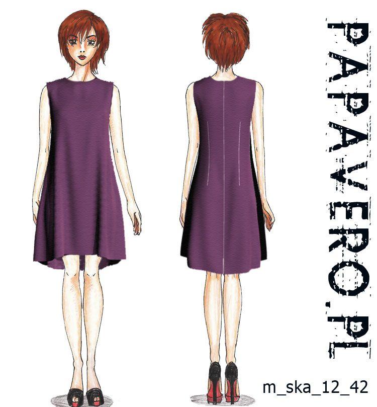 Purple dress free pattern | Moda | Pinterest