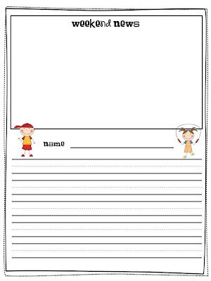 What Happens In First Grade Free Weekend News Template To Track