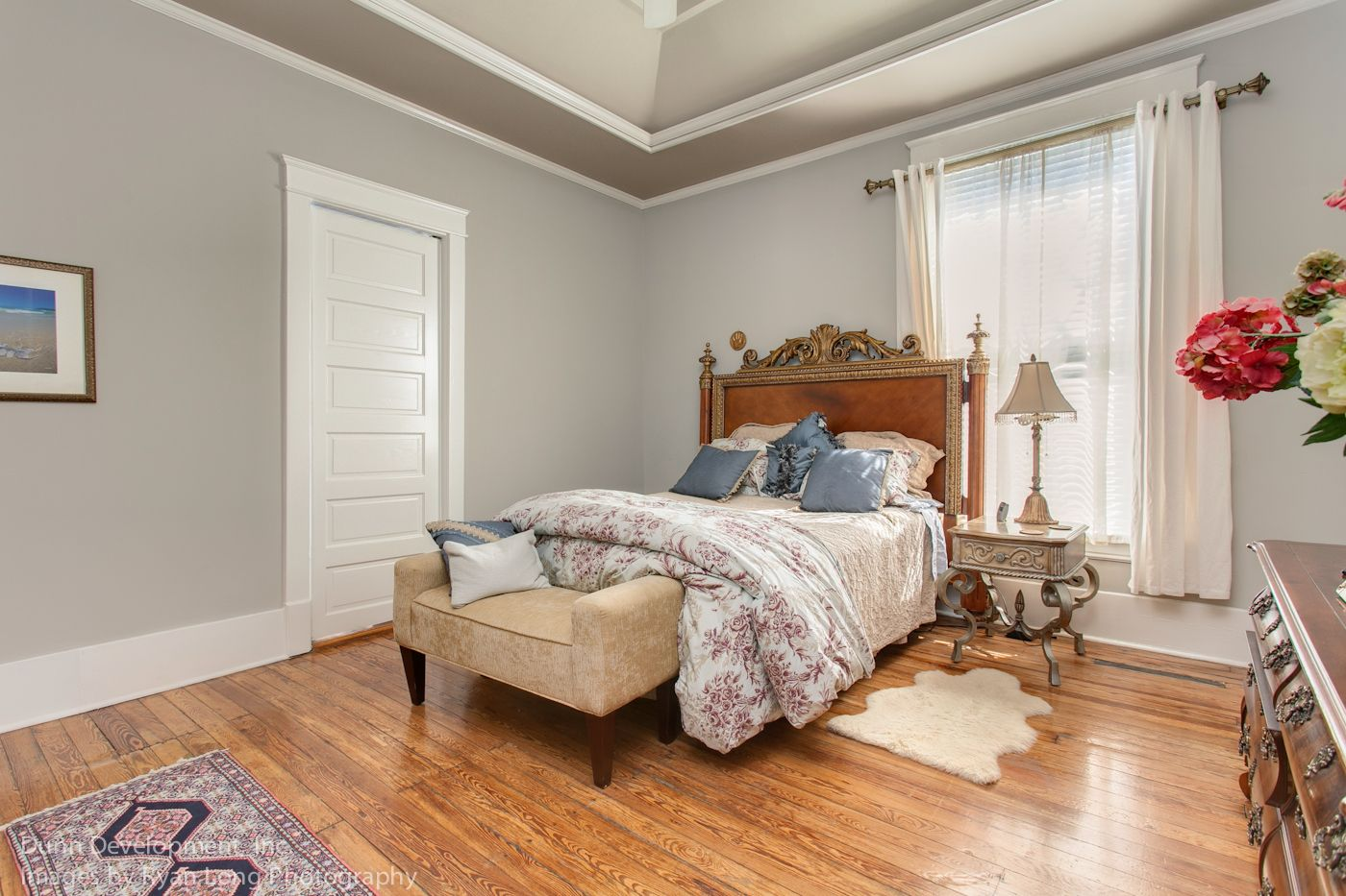 Master bedroom, tray ceiling, crown molding | Our ...
