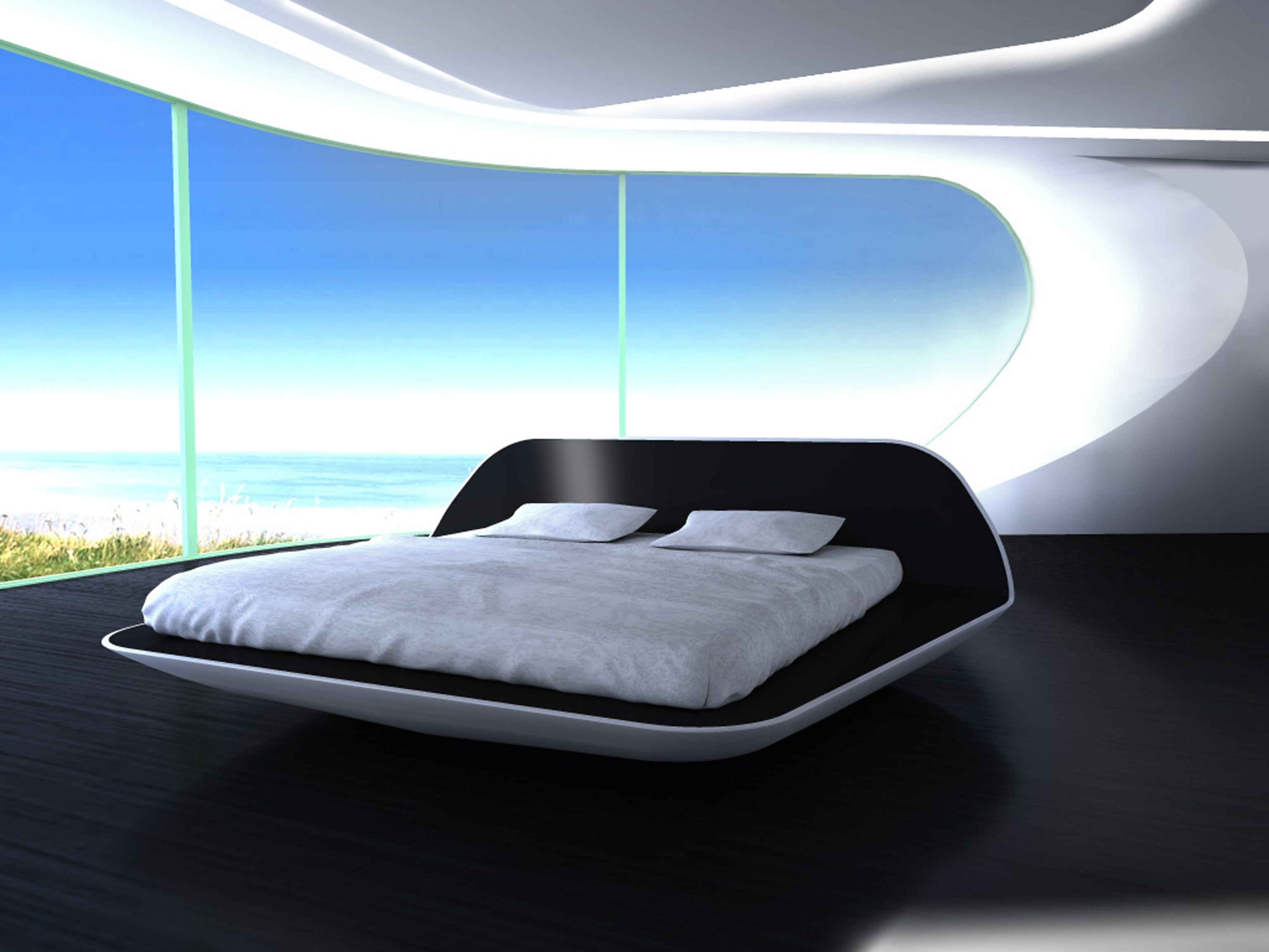 futuristic bed or this bed magetic and floating in my