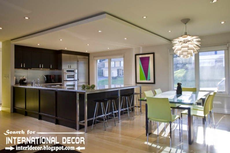 Modern Kitchen Ceiling Designs Ideas Lights Suspended Ceiling For
