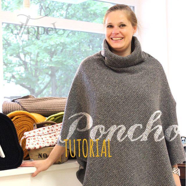 Poncho: Tutorial - Jippel | kreativ | Pinterest | Nähen, Poncho ...