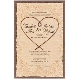 Rope heart western wedding invitations tracys wedding pinterest rope heart western wedding invitations filmwisefo