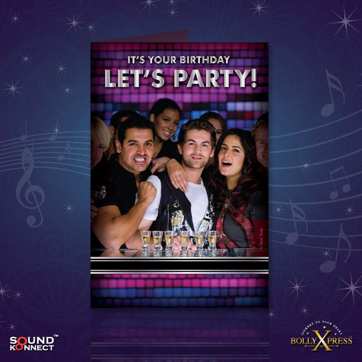BollyXpress Birthday card featuring the song Hai Junoon from – Bollywood Birthday Card