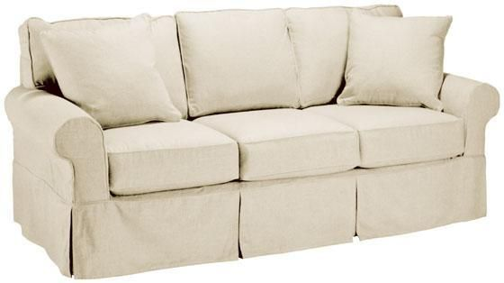 Custom Nantucket Slipcover 3-Cushion Sofa - Slipcovers - Custom ...
