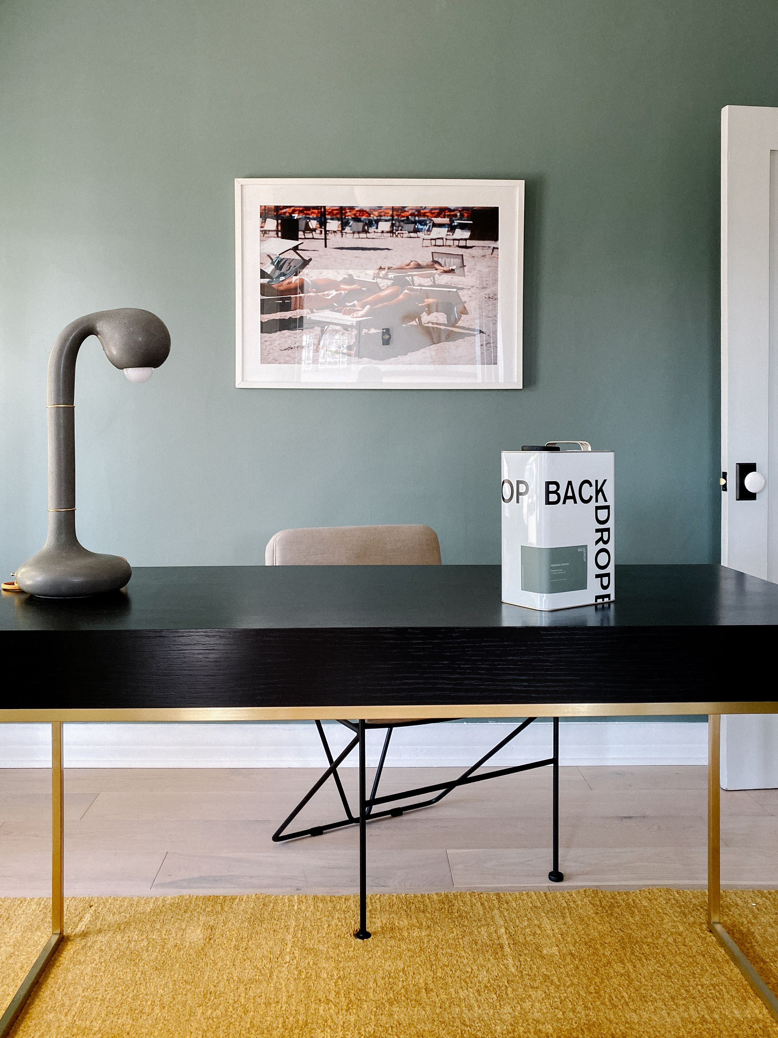 weekend upstate office wall colors green accent walls on office accent wall color id=62271