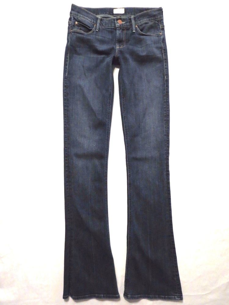 Mother Denim size 25 x 33 Runaway flare EUC Flowers from the Storm Womens jeans #MotherDenim #Flare