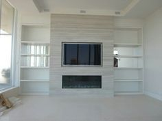 Fireplace wall unit