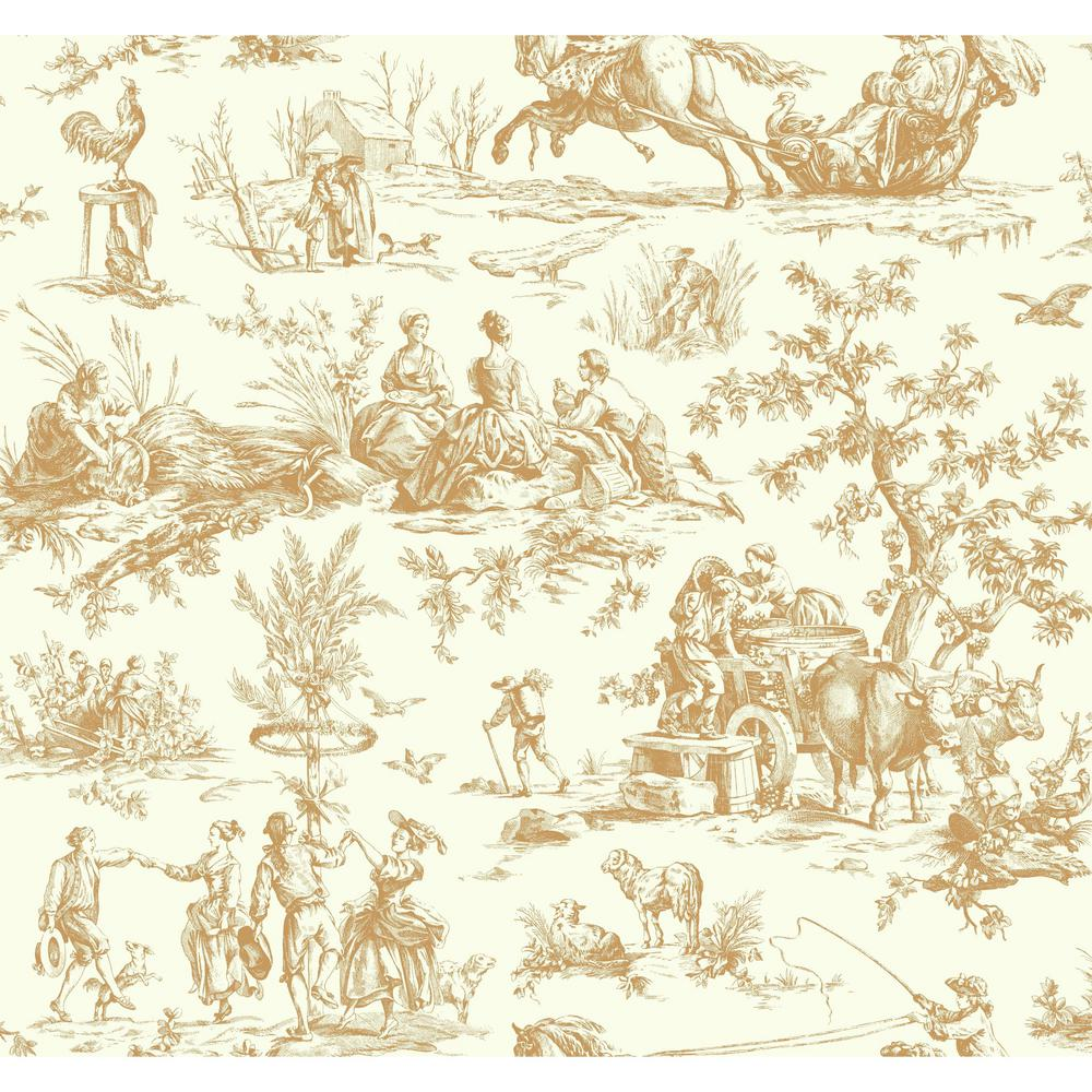 York Wallcoverings Ashford Toiles Seasons Toile Wallpaper