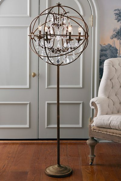 Iron Sphere Floor Lamp | Floor lamp, Wax candles and Iron