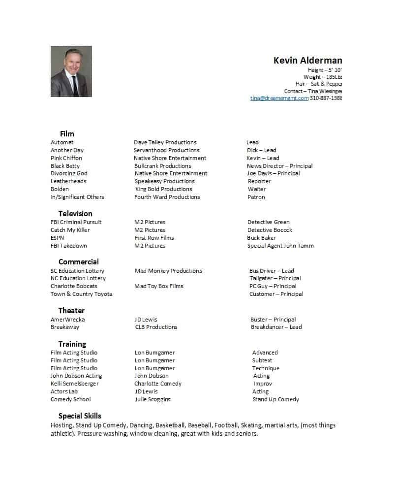 Theatre Resume Template Doc References - Shefalitayal Pertaining To Theatrical Resume Template Word