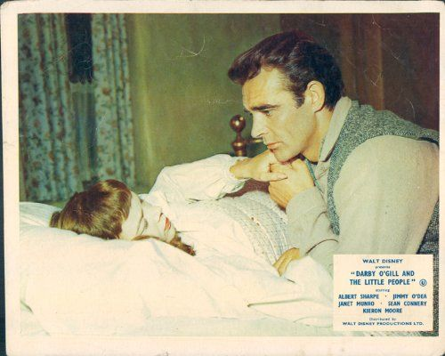DARBY OGILL AND THE LITTLE PEOPLE SEAN CONNERY JANET MUNRO LOBBY CARD DISNEY @ niftywarehouse.com #NiftyWarehouse #Disney #DisneyMovies #Animated #Film #DisneyFilms #DisneyCartoons #Kids #Cartoons