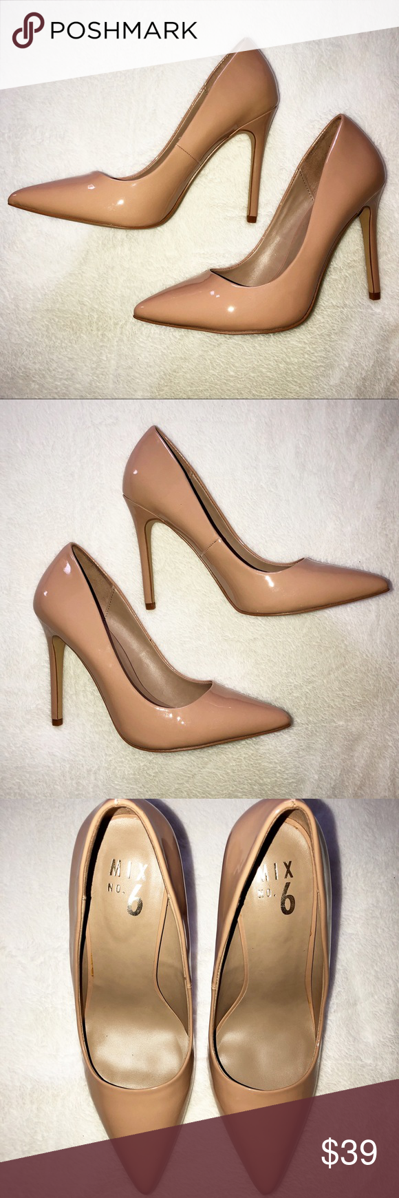 8eab140a29 NEW IN BOX MIX NO. 6 DIGNITY BEIGE PUMPS Add a simple yet chic accent