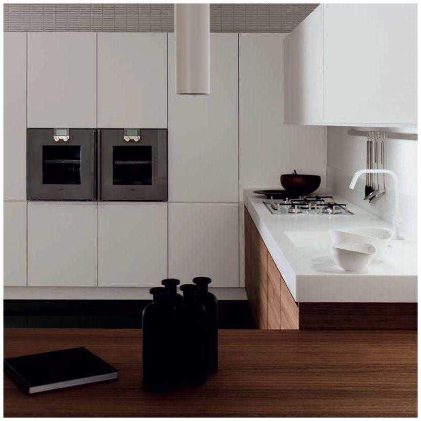 muebles #cocina #Doca Cusat Nogal Sedamat Blanco | cucine ...