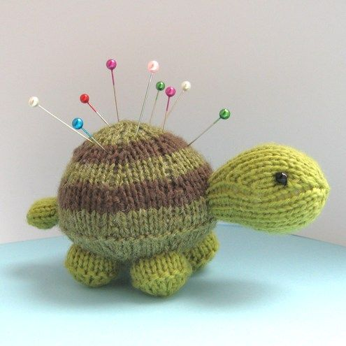 pincushion | Tavistock Tortoise toy or pincushion knitting pattern PDF on Folksy