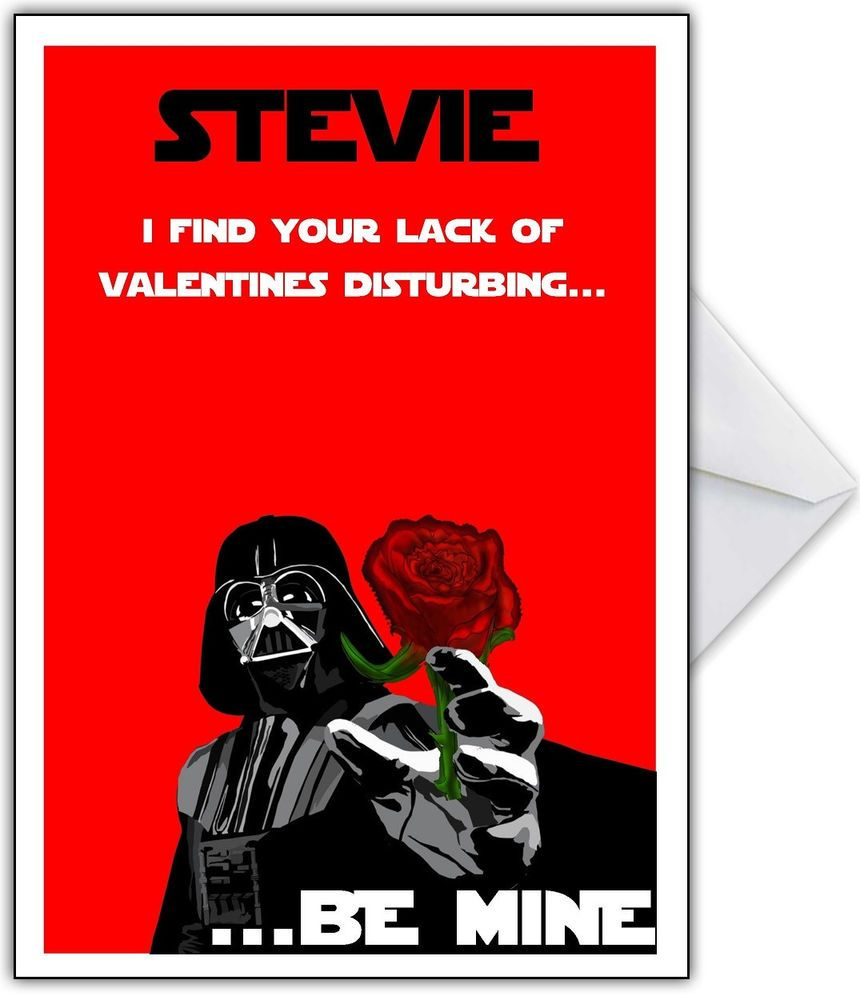 Funny STAR WARS Valentines Day Card - Personalised Darth Vader Joke A5 in  Home, Furniture