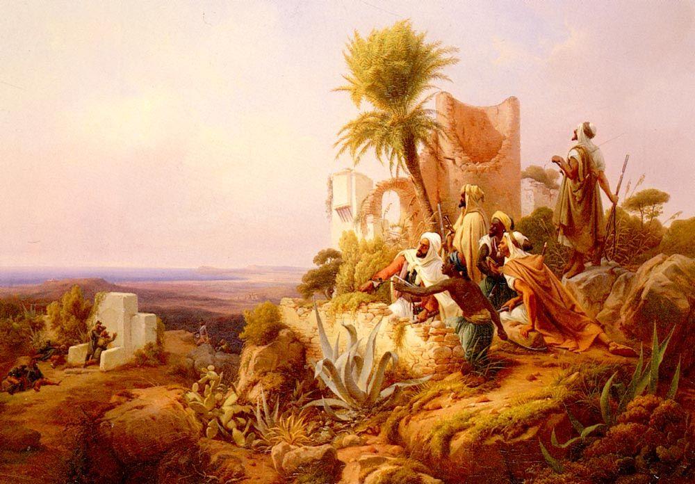 Niels Simonsen, Arabs in a Hilltop Fort