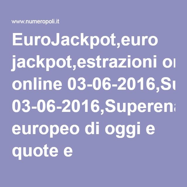 eurolotto quote