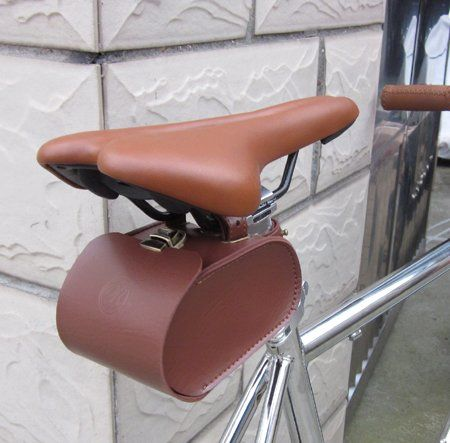 Handmade Leather Pu England Vintage Bike Seat Saddle Tail Tools Bag To Match Brooks Cushion Bicycle Bag Leather Bicycle Accessories Vintage Bicycles
