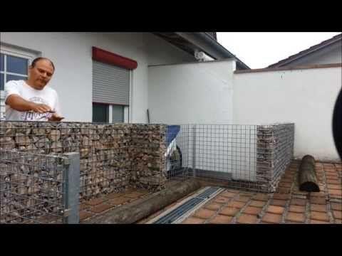 Gabione ( Steinmauer ) einfach selbst bauen - YouTube Garten