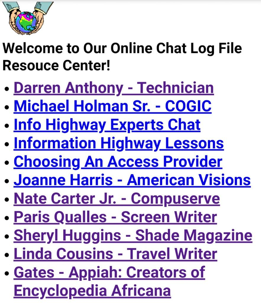 American Visions Online Chat Logs from way back in the day