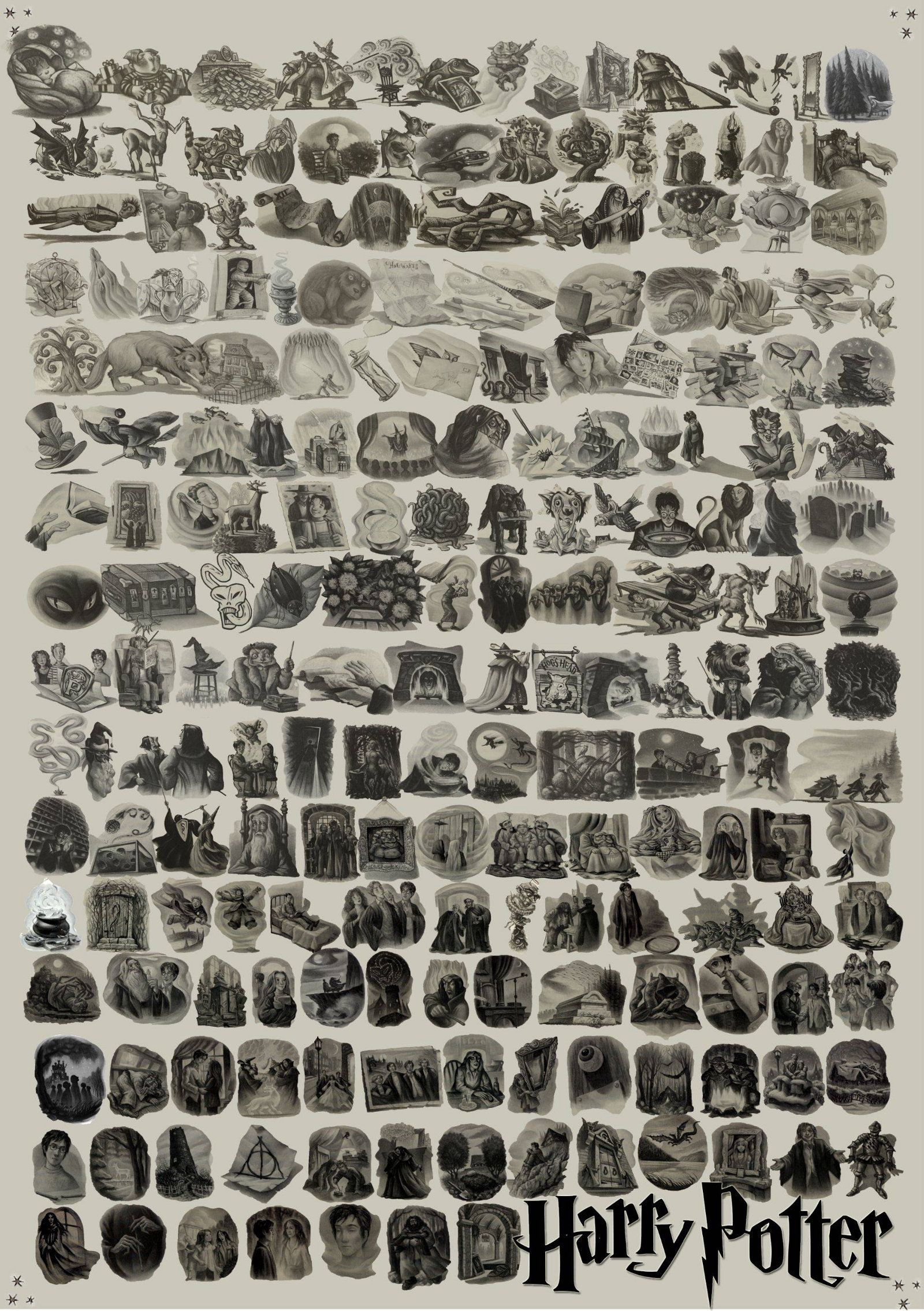 Every Single Illustration From Harry Potter By Mary GrandPre