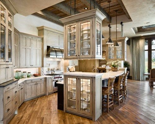 Rustic Cathedral Ceiling Kitchen Cabinets Hanging