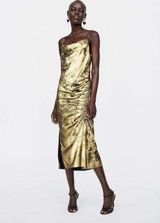 17ced705a1c Kleider-Trend  Die schönsten goldenen Kleider für Weihnachten