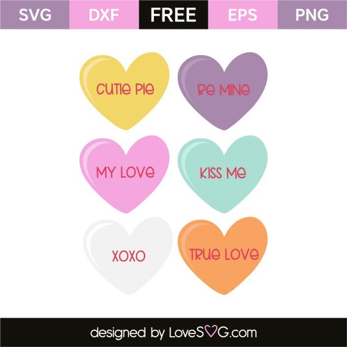 Download Hearts and quotes | Valentine candy hearts, Valentines diy ...