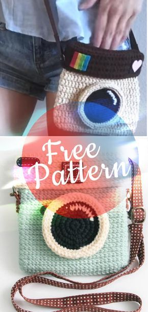crochet PATTERN camera purse lomo #baginstagram | Purses,Etc ...
