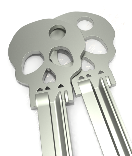 Blank skull keys from StatKey. Have them cut and never forget which key is which.