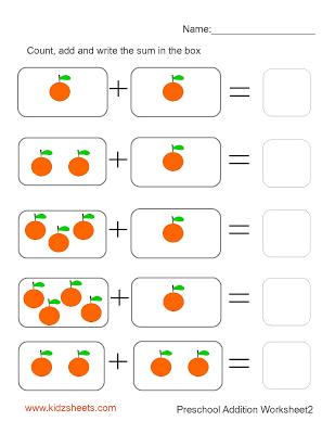 Preschool Addition Worksheets | Joy school | Pinterest | Addition ...