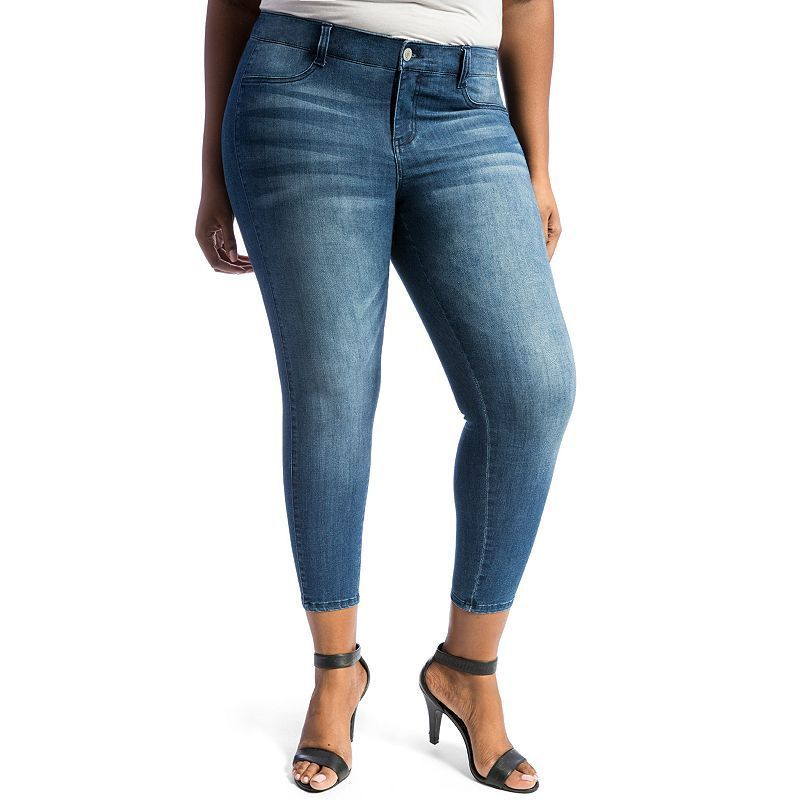 Juniors' Plus Size Crave Slimming Skinny Jeans, Girl's, Size: 24 W ...