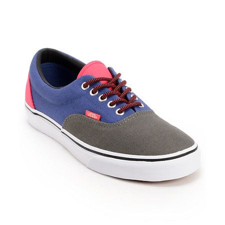 An all American classic the Vans Era 3 Tone shoes have a charcoal ... 325b724b9f3d