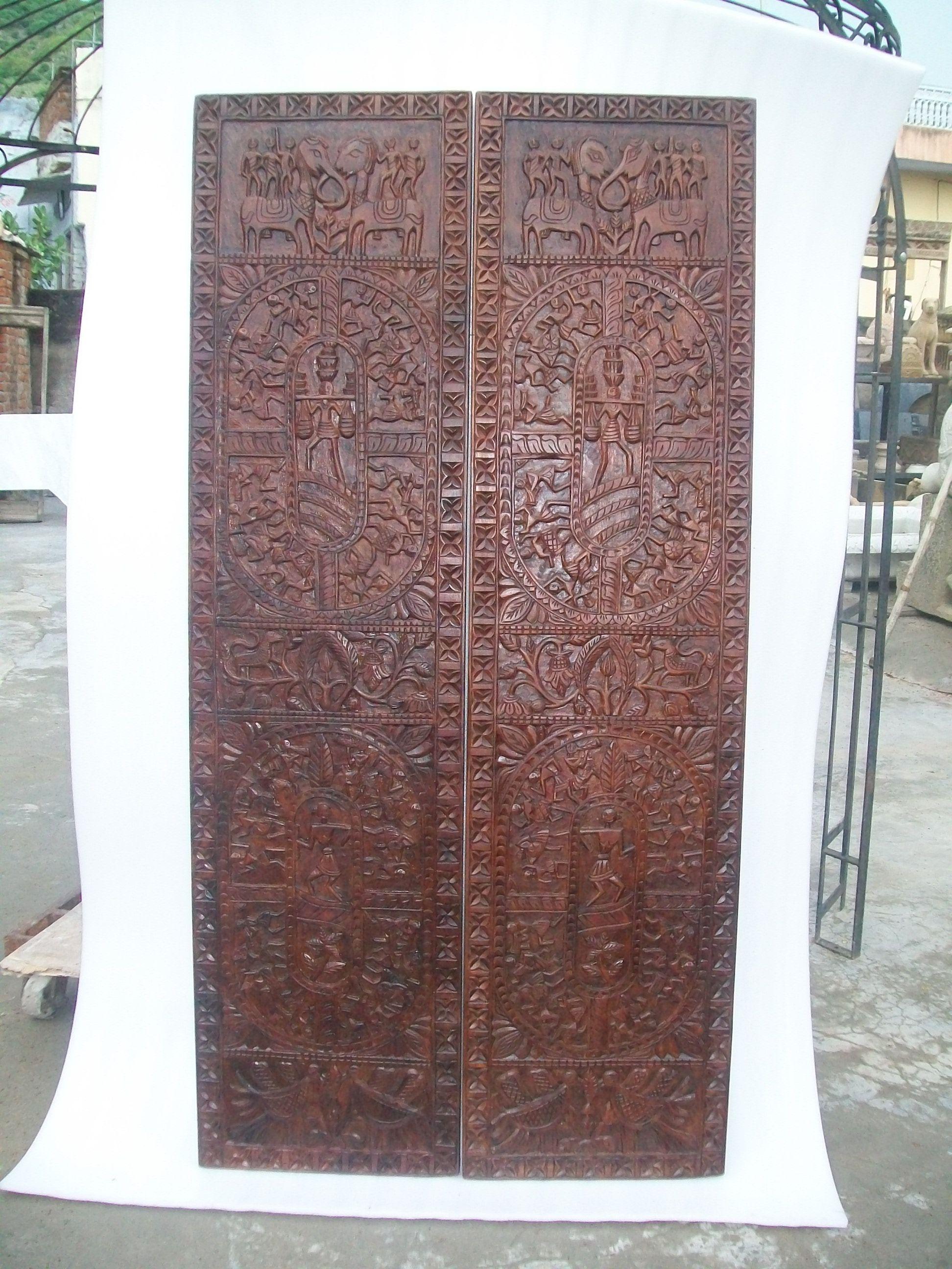 Tribal panels from Jaipur - closet doors?