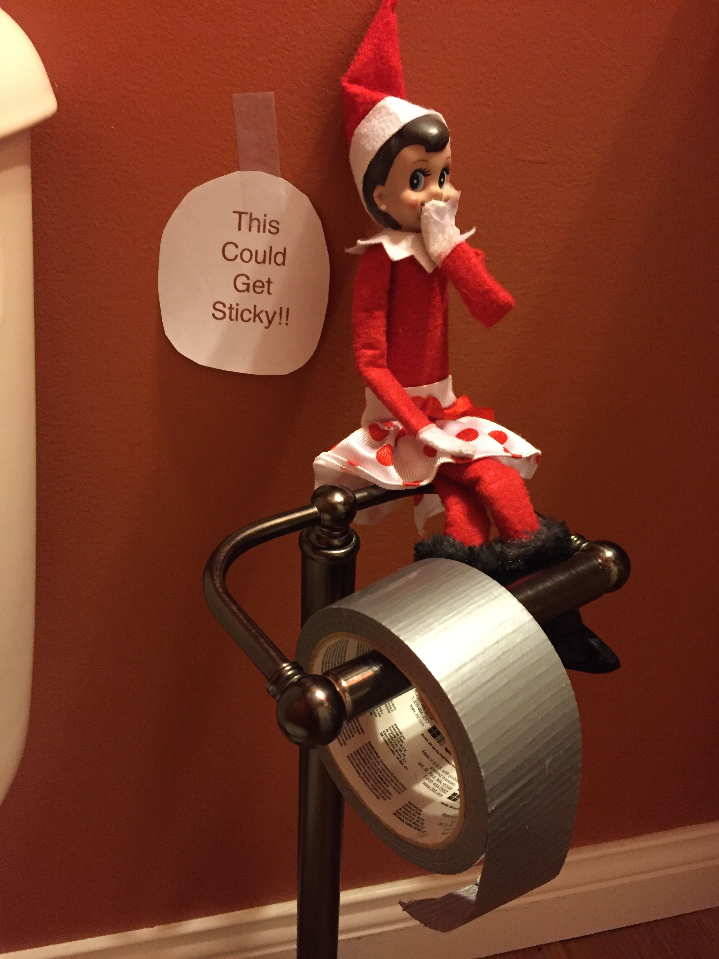 Cookie The Elf replaces toilet paper with duct tape! | Elf on a