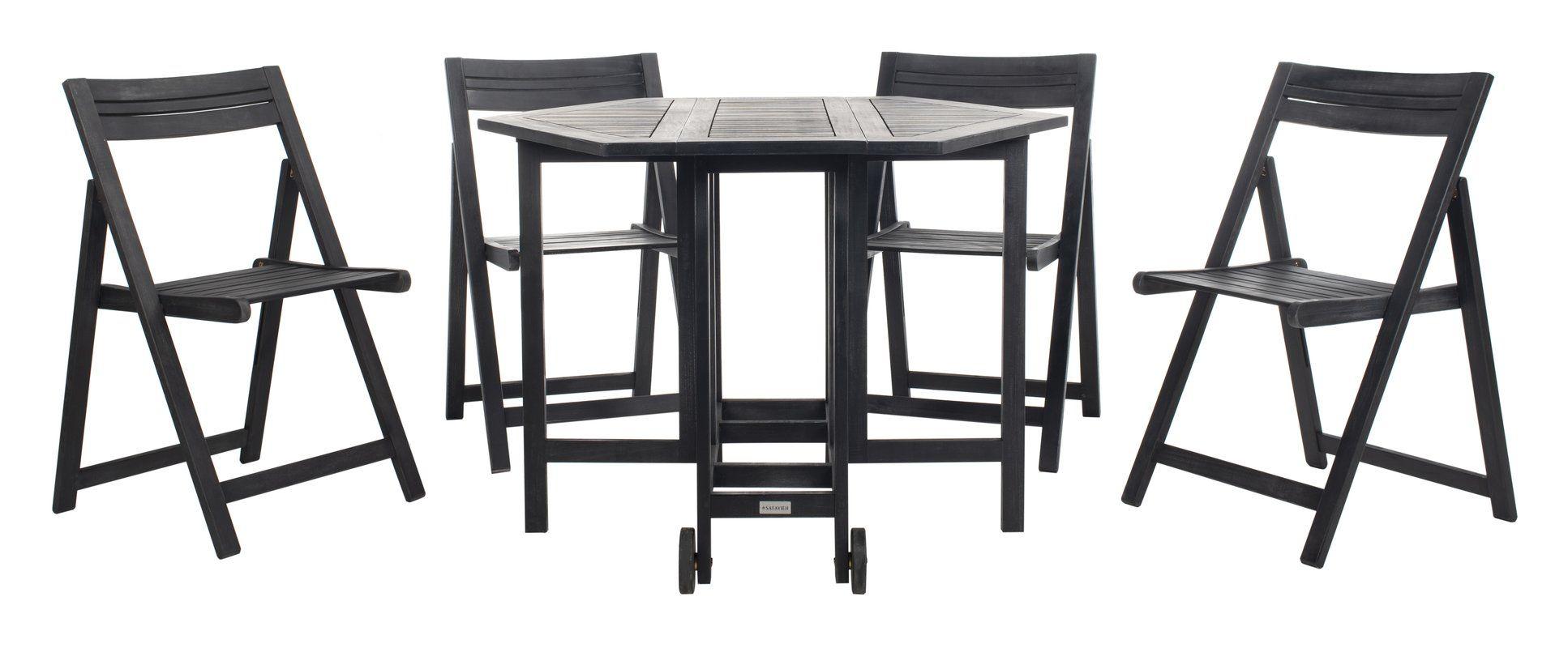 22++ Safavieh kerman acacia wood 5 piece folding dining set Inspiration