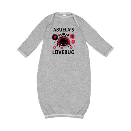 Adorable Valentine's Day Abuela's Lovebug Newborn Layette with flowers.  Cute Valentines Day themed baby shower gift for your granddaughter!