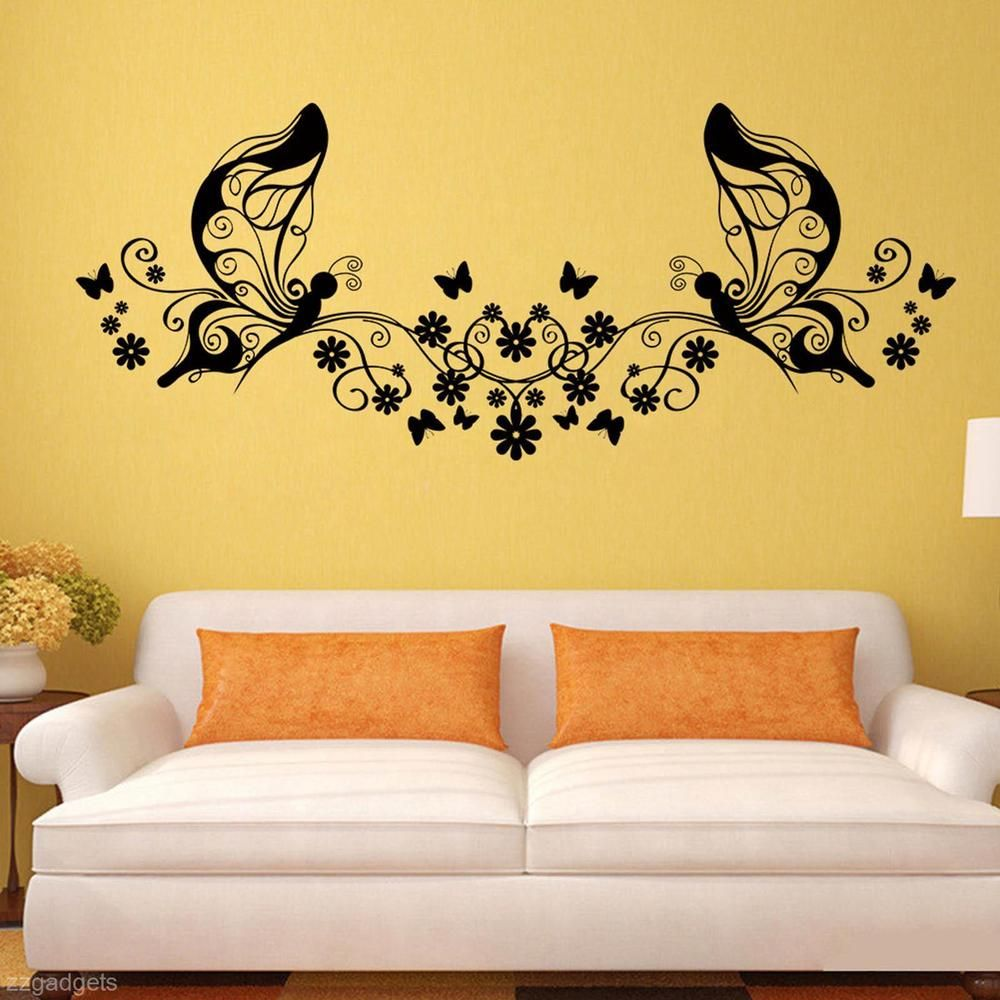 Removable Home Living Room DIY Mural Butterfly Wall Sticker Vinyl ...