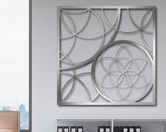 Laser Cut Metal Decorative Wall Art Panel Sculpture For Home Office
