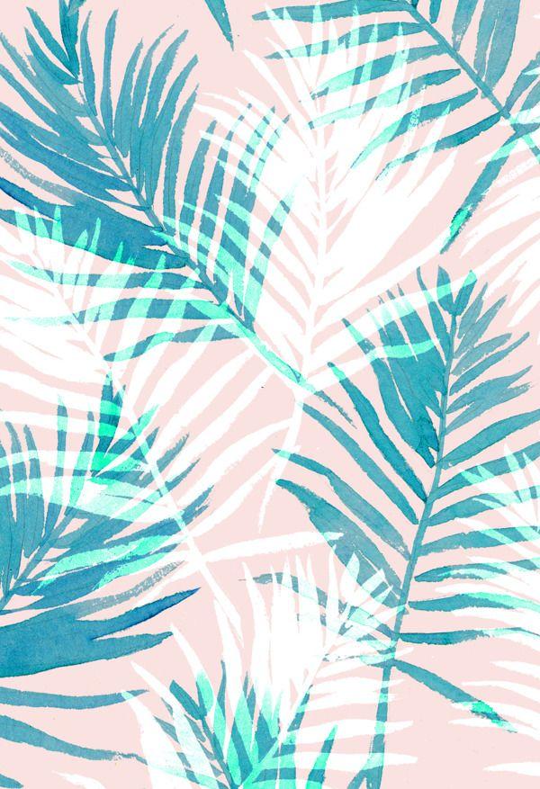 Paradise Pastels By Charis Harrison Via Behance Leaf Wallpaper Leaves Wallpaper Iphone Pretty Wallpapers