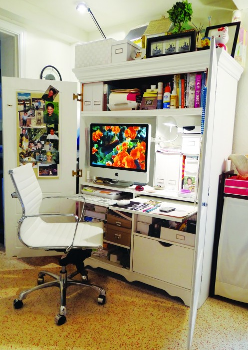 Hidden Desk Armoire | INTERIOR DESIGN   12 Home Offices With Creative  Solutions
