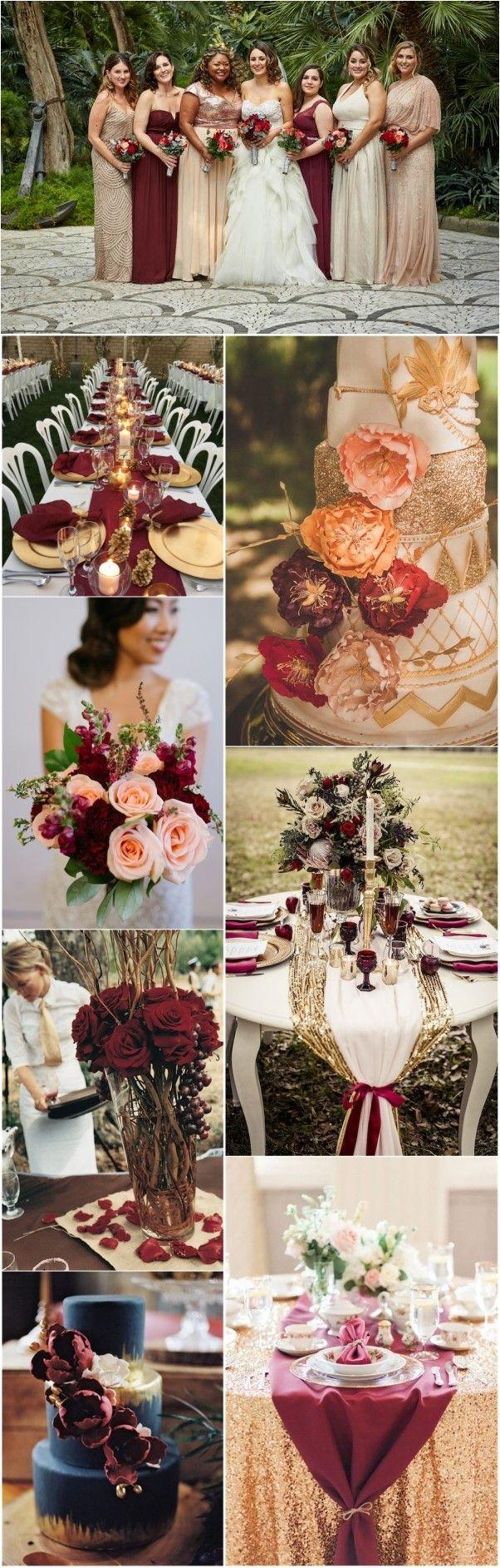 22 Romantic Burgundy And Rose Gold Fall Wedding Ideas Weddinginclude Wedding Decorations Fall Wedding Dream Wedding
