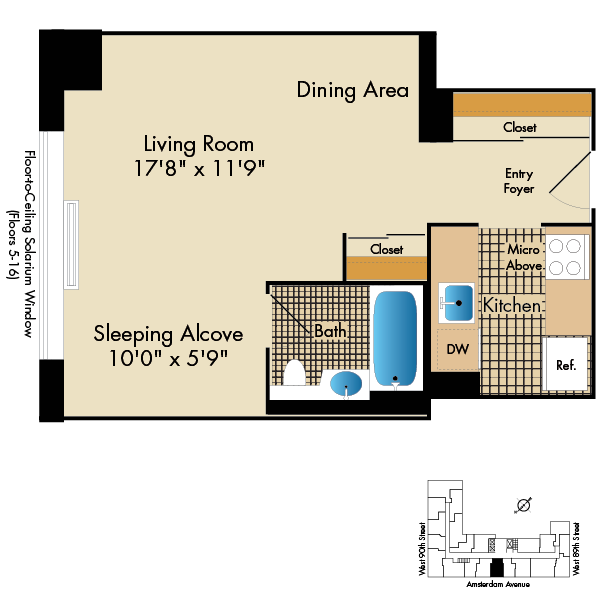 1-2 Bedroom Apartments for Rent in NYC | Apartments Near ...