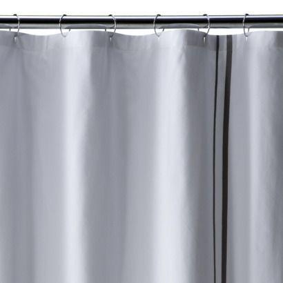 Fieldcrest Luxury Pieced Border Pique Shower Curtain Gray