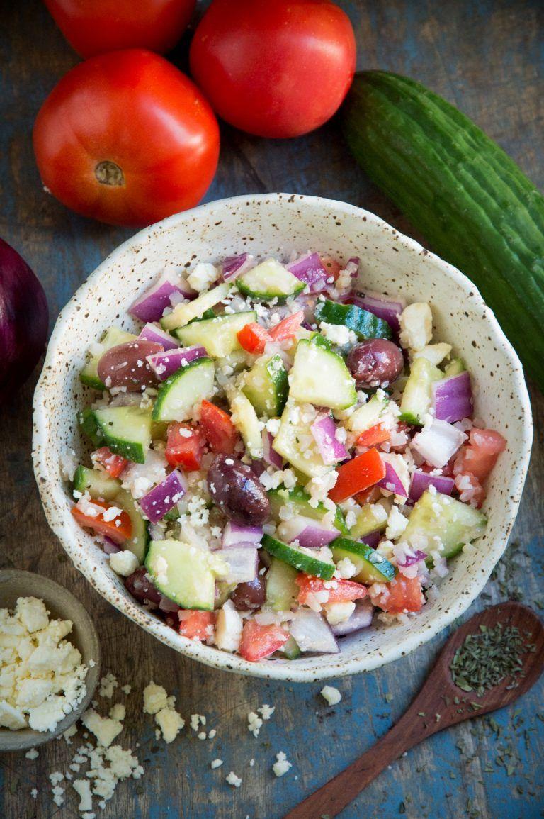 Mediterranean Salad (Keto Friendly) - Simply So Healthy